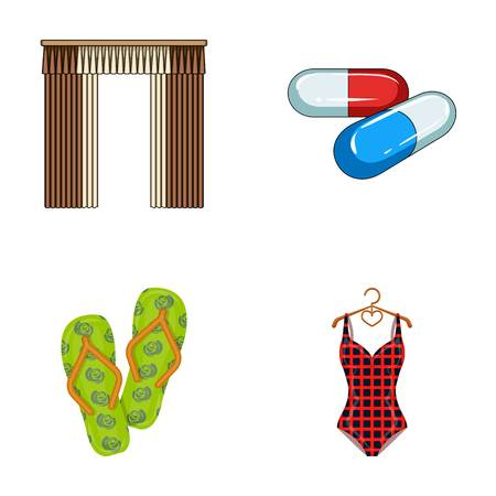 textiles, medicine, polyclinic and other web icon in cartoon style.knitwear, leisure, business icons in set collection. Illustration