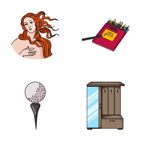 art, sport and other web icon in cartoon style.artist, furniture icons in set collection.