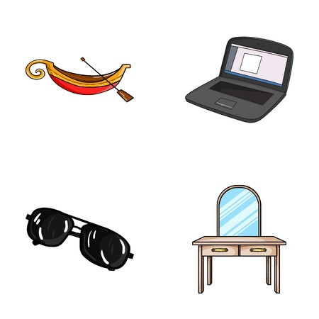 travel, crime and other web icon in cartoon style. technology, furniture icons in set collection. Illustration