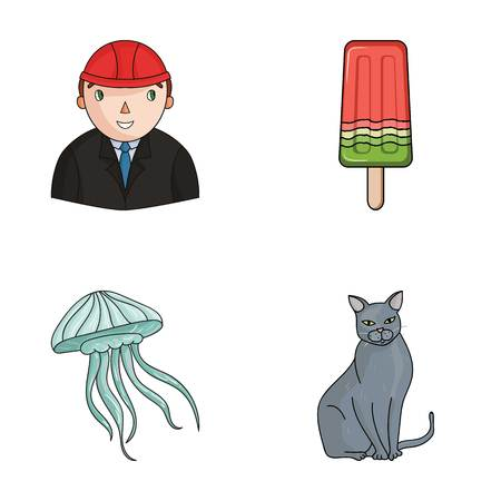 sweetness: breed, builder and other web icon in cartoon style.travel, animal icons in set collection.