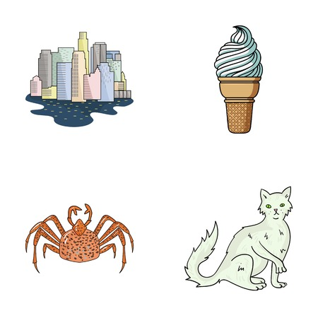travel, animal and other web icon in cartoon style.Desert, rock icons in set collection.