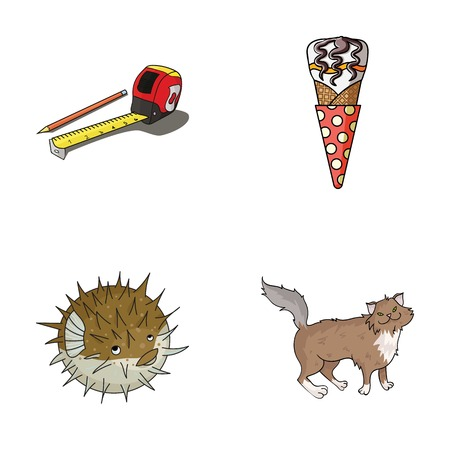 Food, breed and other web icon in cartoon style.animal,building icons in set collection. Illustration