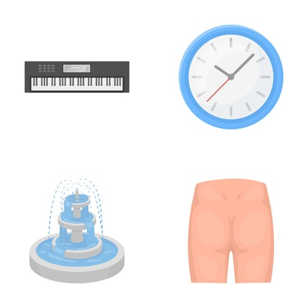 entertainment, concert, geneeskunde en ander webpictogram in cartoonstyle.loin, pijn, informatie, iconen in set collectie. Stock Illustratie