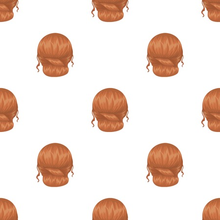 Red combed behind.Back hairstyle single icon in cartoon style vector symbol stock illustration web.