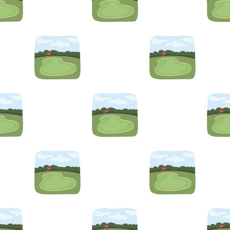 Golf course.Golf club single icon in cartoon style vector symbol stock illustration web. Фото со стока - 81865702