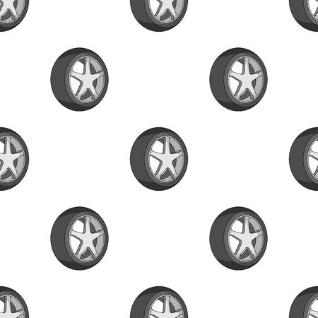 tire cover: Wheel with a tire cover for the car.Car single icon in cartoon style vector symbol stock illustration web.