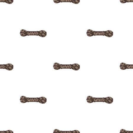 Hank of climbing rope.Mountaineering single icon in cartoon style vector symbol stock illustration web. Reklamní fotografie - 81865804