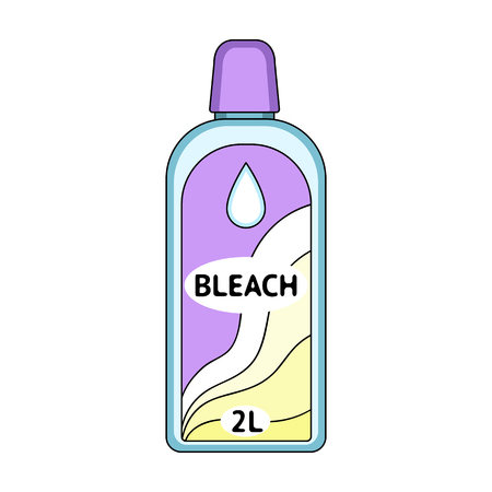 Bottle of bleach. Dry cleaning single icon in cartoon style vector symbol stock illustration web.