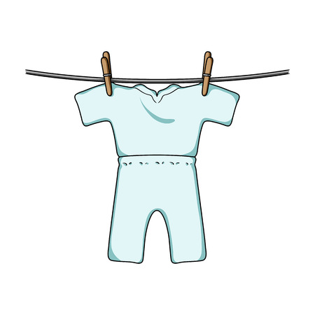 Drying of clean things. Dry cleaning single icon in cartoon style vector symbol stock illustration web. Illustration