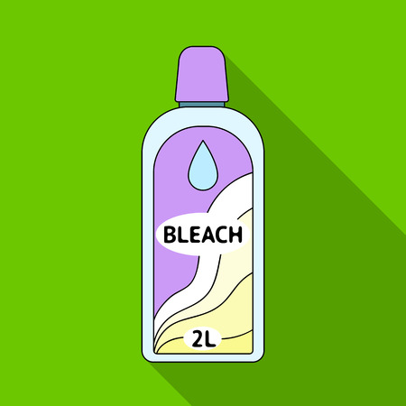 Bottle of bleach. Dry cleaning single icon in flat style vector symbol stock illustration web.