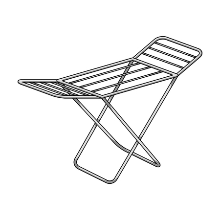 laundry hanger: Drying for clean linen. Dry cleaning single icon in outline style vector symbol stock illustration web.