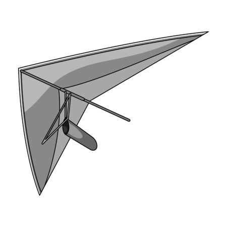 Hang gliding.Extreme sport single icon in monochrome style vector symbol stock illustration web.