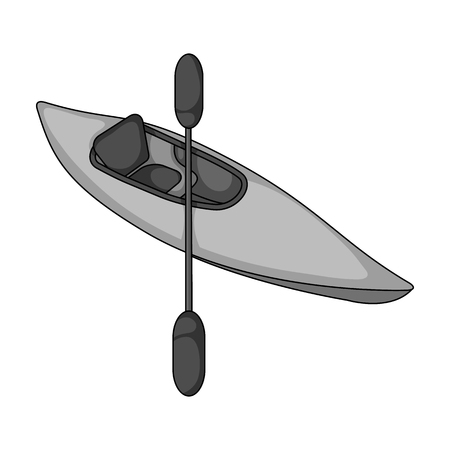 Kayak with oars Illustration