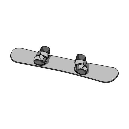 Snowboard Extreme sport single icon in monochrome style vector symbol stock illustration