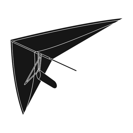 Hang gliding.Extreme sport single icon in black style vector symbol stock illustration web.