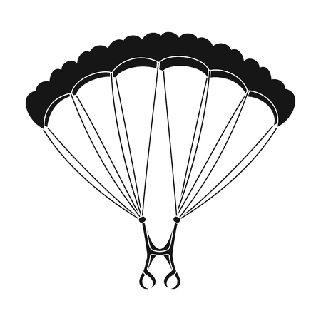 Parachuting.Extreme sport single icon in black style vector symbol stock illustration web. 向量圖像