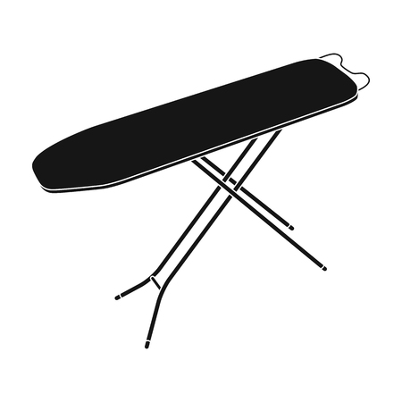 Ironing board. Dry cleaning single icon in black style vector symbol stock illustration web. Illustration