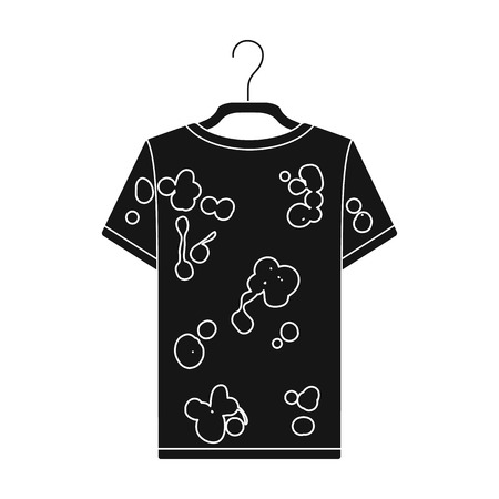 Dirty things. Dry cleaning single icon in black style vector symbol stock illustration web.