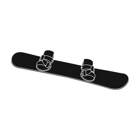 Snowboard.Extreme sport single icon in black style vector symbol stock illustration web.