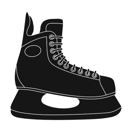 Horse of the hockey player.Extreme sport single icon in black style vector symbol stock illustration web.