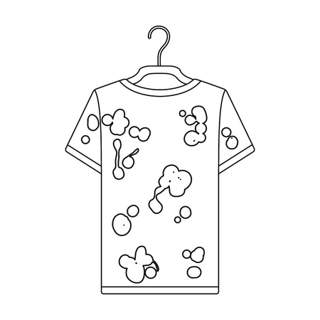 dirty clothes: Dirty things. Dry cleaning single icon in black style vector symbol stock illustration .