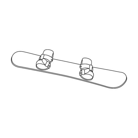 Snowboard Extreme sport single icon in outline style vector symbol stock illustration