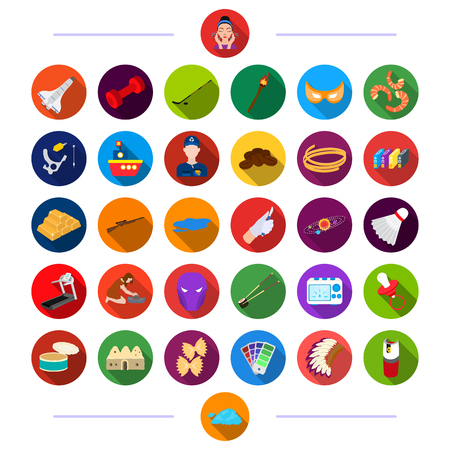 History, Restaurant, Hygiene and other  icon in flat style., Recreation, Sports, Tourism icons in set collection