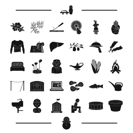 Food, profession and other web icon in black style.golf, japan, man, tool icons in set collection.