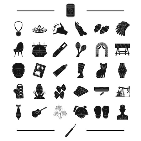 dentistry, weapons, equipment and other  icon in black style.tool, egypt icons in set collection.