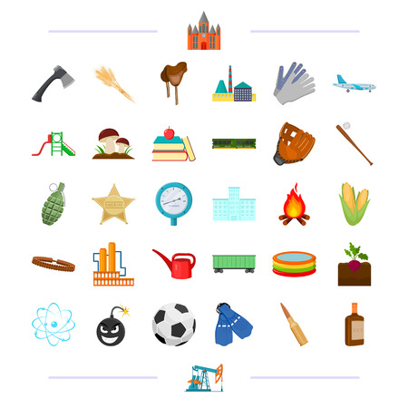 microcircuit: education, sports, transportation and other  icon in cartoon style.agriculture, alcohol, travel icons in set collection.