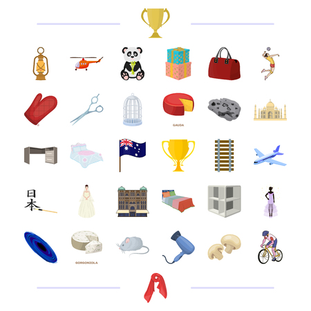 travel, textile, holiday and other  icon in cartoon style.sports, animals, tourism,