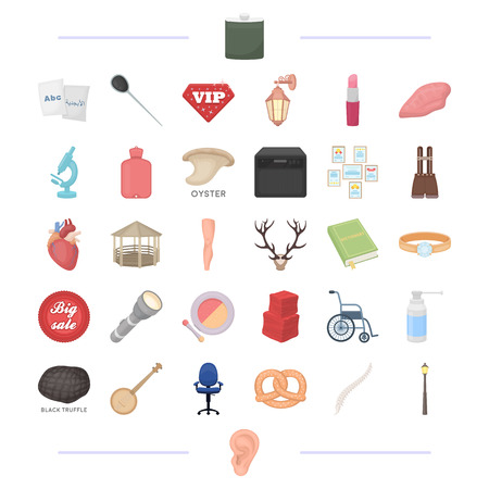 medicine, food, education and other  icon in cartoon style.care, tool, lighting icons in set collection.