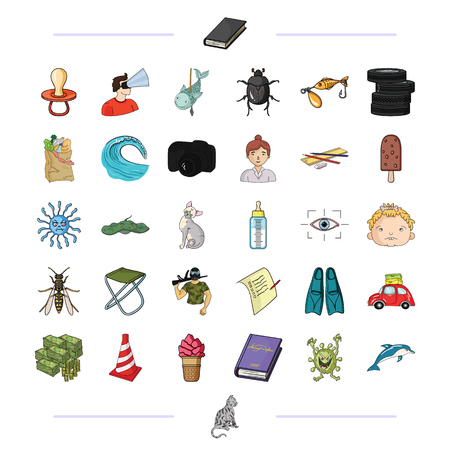 leisure, business, hunting and other  icon in cartoon style., animal, nature, sea, icons in set collection. Illustration