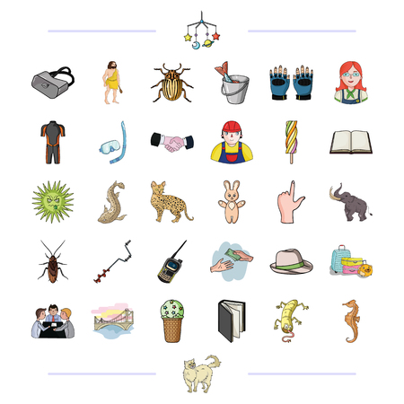 business, hunting, building and other  icon in cartoon style.leisure, tourism, entertainment icons in set collection.