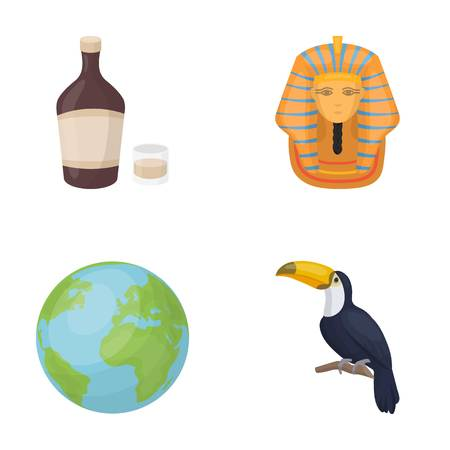 Alcohol, Earth and other  icon in cartoon style.History, Bird icons in set collection.