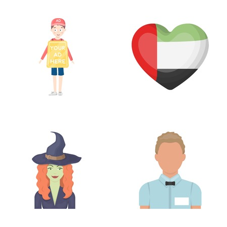 trade, magic and other  icon in cartoon style.traditional, profession icons in set collection.