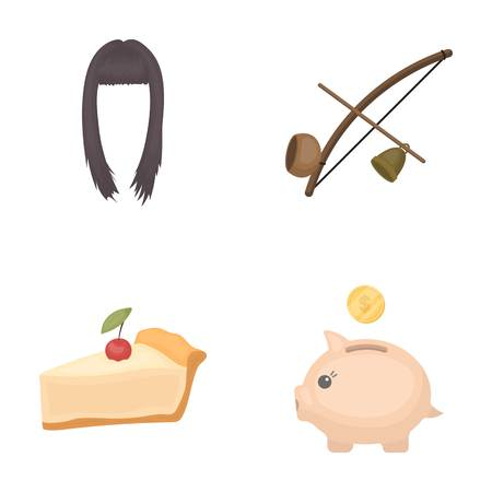 leaf logo: hairdresser, Cooking and other  icon in cartoon style.traveling, finance icons in set collection.