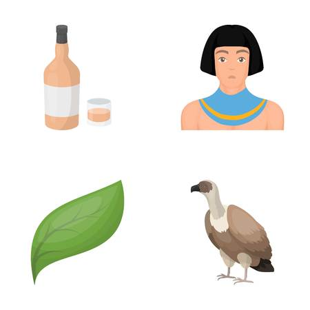 pharaoh: alcohol, ecology and other  icon in cartoon style.history, animal icons in set collection.