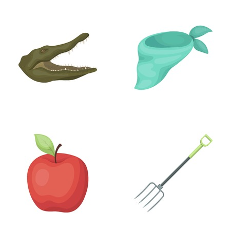 animal, vegetarianism and other  icon in cartoon style.clothes, garden tools icons in set collection.