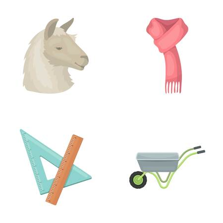 Animal, education and other  icon in cartoon style. clothing, agriculture icons in set collection.