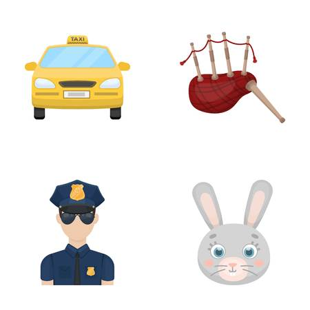 bagpipes: Transport, security and other  icon in cartoon style. travel, animal icons in set collection.