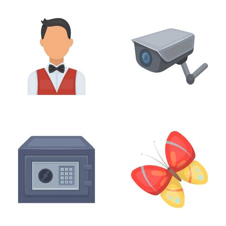 profession, finance and other  icon in cartoon style.security, insect icons in set collection.