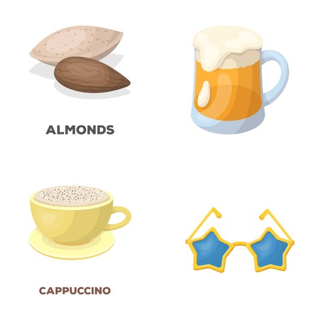 Food, Pub and other  icon in cartoon style. Fans, Cooking icons in set collection. Illustration