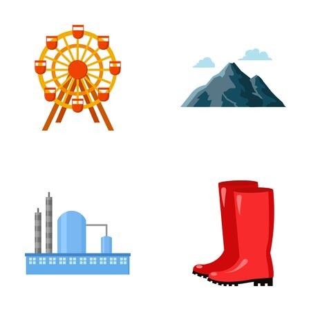 park, oil refinery and other  icon in cartoon style.travel, kitchen garden icons in set collection.