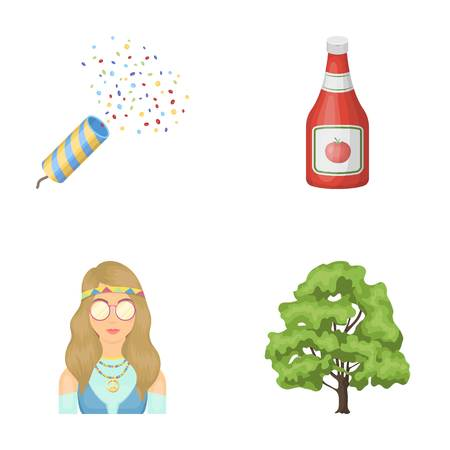 holiday, Happy and other  icon in cartoon style.cooking, forestry icons in set collection. Illustration