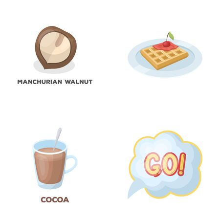 cooking, drink and other  icon in cartoon style.food, fans icons in set collection. 向量圖像