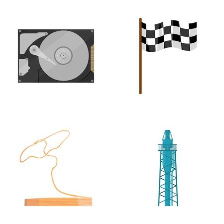 tecnología, viajes y otros iconos en estilo de dibujos animados style.sport, los iconos de refinación de petróleo en la colección de conjunto.