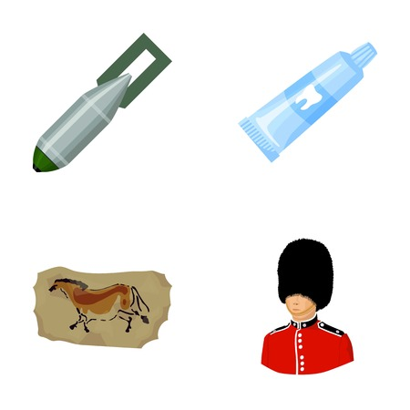 hygiene, ecology, army and other  icon in cartoon style.military, Englishman, security icons in set collection.