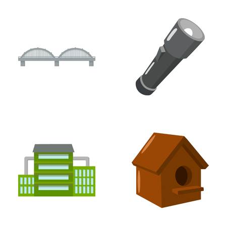 Transport, oil refining and other  icon in cartoon style.lighting, beekeeping icons in set collection.