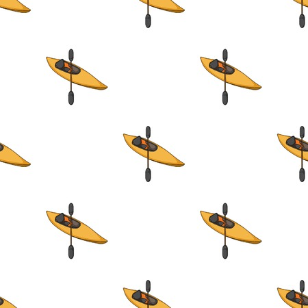 Kayak with oars.Extreme sport single icon in cartoon style vector symbol stock illustration web.  イラスト・ベクター素材